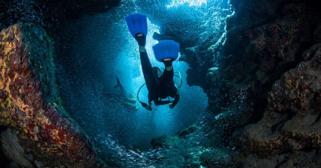 Diving Trinity Cave in Grand Cayman